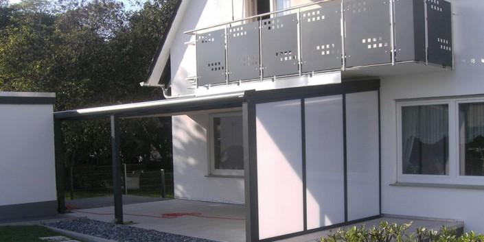 Terrasse Seitenwand-Sichtschutz opal